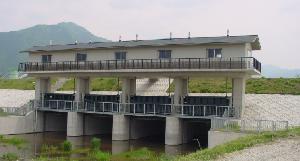 赤野田川樋門ゲート (国土交通省・千曲川工事)
