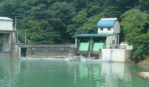 中山ダム 取水口網場(富山県)