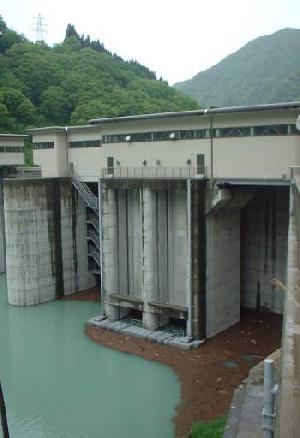宇奈月発電所 取水口網場(関西電力)