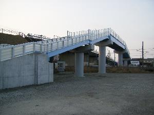 主要地方道滑川上市線臨時道路交付金  歩道橋上部工工事
