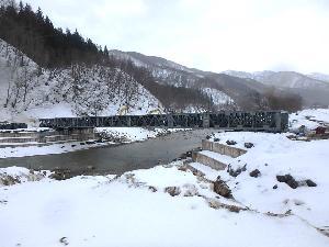 利賀村上百瀬地区 応急組立橋架設工事